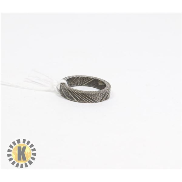 DAMASCUS - HAND MADE STEEL RING- NEW (22)