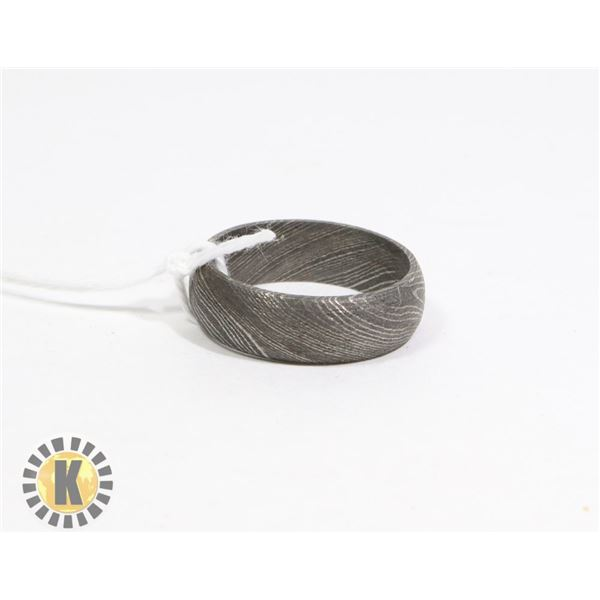 DAMASCUS - HAND MADE STEEL RING- NEW (20)
