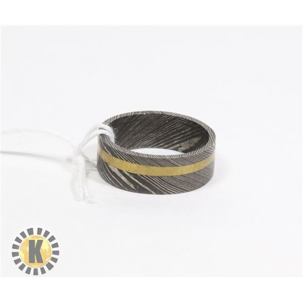 DAMASCUS - HAND MADE STEEL RING- NEW (17)