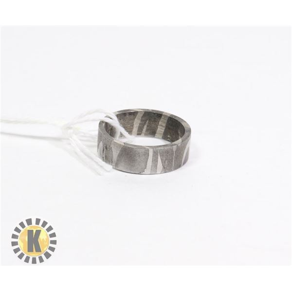 DAMASCUS - HAND MADE STEEL RING- NEW (13)