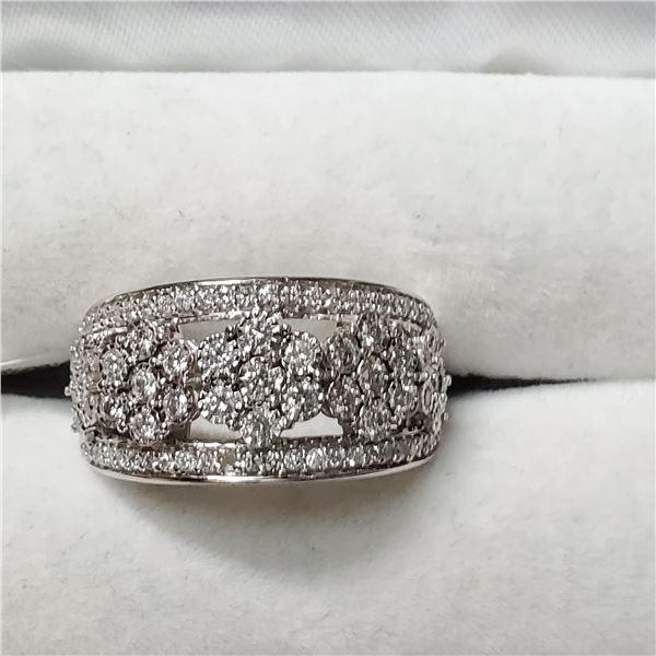 10K WHITE GOLD DIAMOND(0.76CT,SI2-I1,G-H) RING