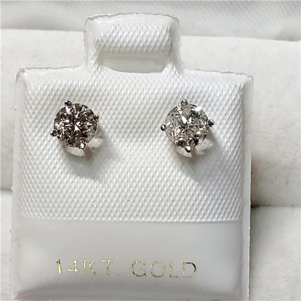 14K WHITE GOLD DIAMOND(0.75CT,I2-I3,G-H)