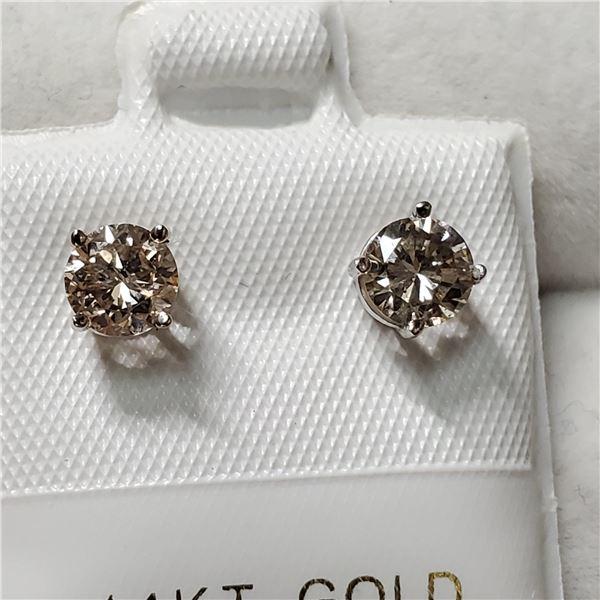 14K WHITE GOLD DIAMOND(0.8CT, I2-I3, I-J)