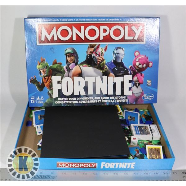 FORTNITE MONOPOLY (USED, SOLD AS IS)