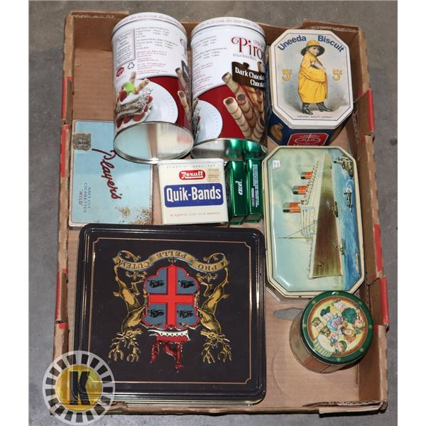 LOT OF ASSORTED VINTAGE CANS