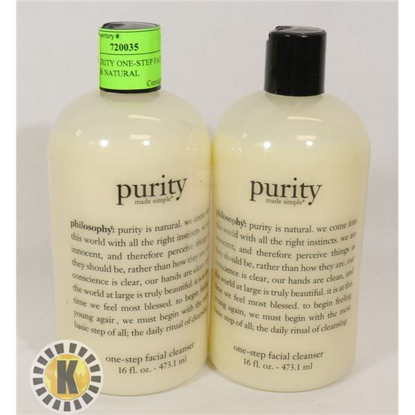 2PK OF PURITY ONE-STEP FACIAL CLEANSER NATURAL