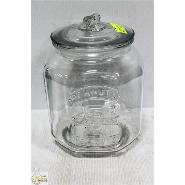 LARGE PEANUT / CANDY DISPLAY JAR