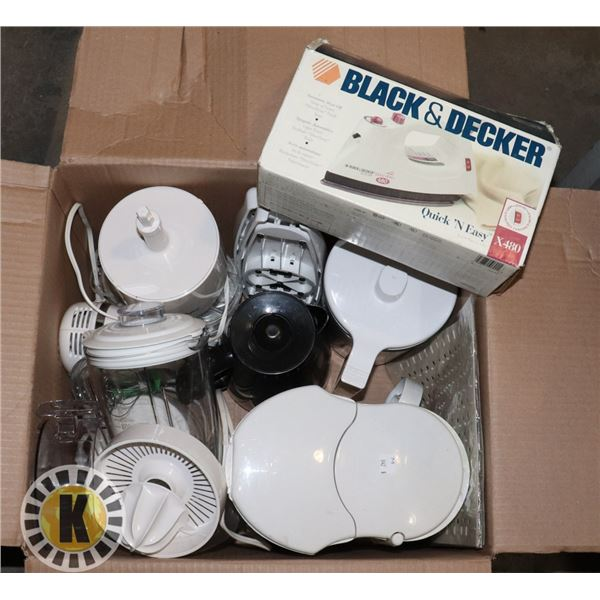 MIXED LOT-SMALL HOME APPLIANCES