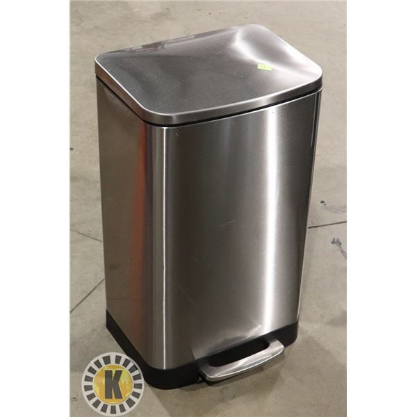 STAINLESS STEEL FOOT OPEN GARBAGE CAN