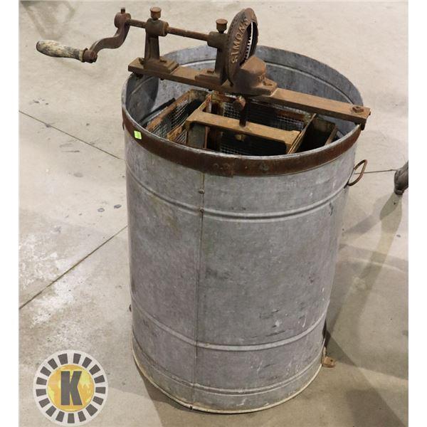 ANTIQUE WASHING MACHINE MARKED SIMON'S MFG.CO
