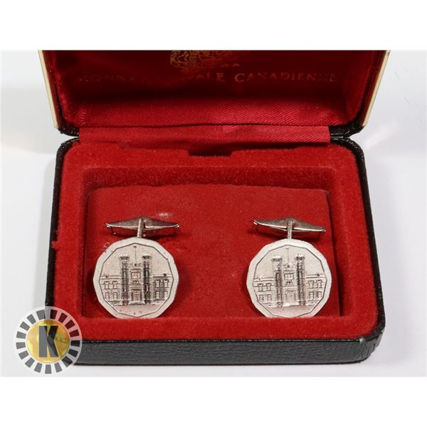 SET OF ROYAL CANADIAN MINT CUFFLINKS IN BOX