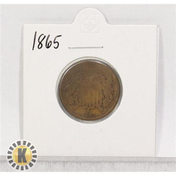 1865 OLD USA TWO CENT COIN