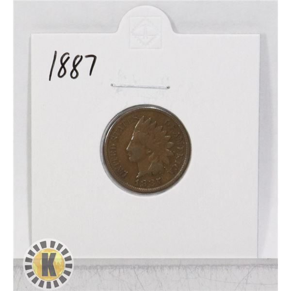 1881 OLD USA INDIAN HEAD ONE CENT COIN