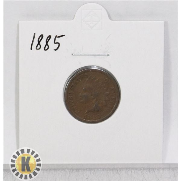 1885 OLD USA INDIAN HEAD ONE CENT COIN