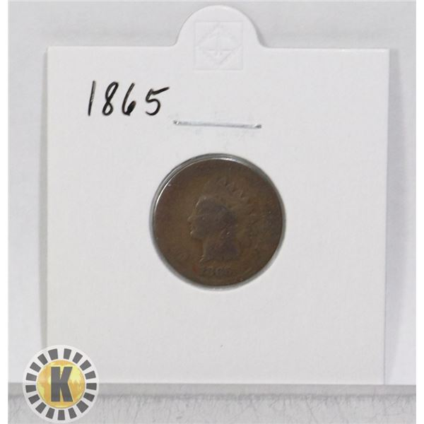 1865 OLD USA INDIAN HEAD ONE CENT COIN