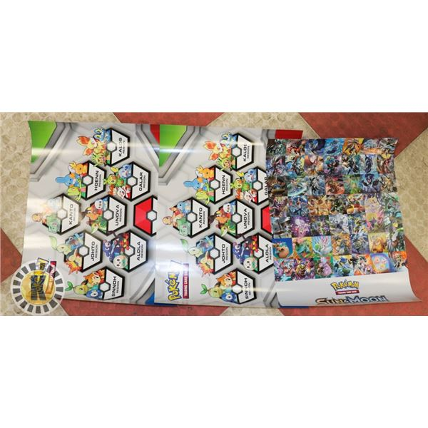 x3 POKEMON VARIOUS WALL POSTERS, NEW