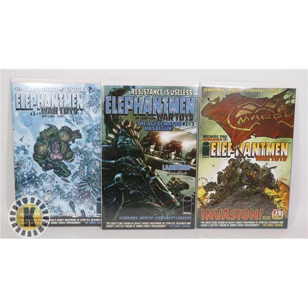 IMAGE COMICS ELEPHANTMAN WAR TOYS #1-3