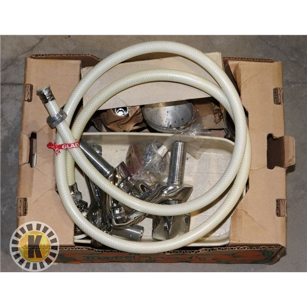 FLAT OF SILVER WATER FOSET AND SINK HOSE