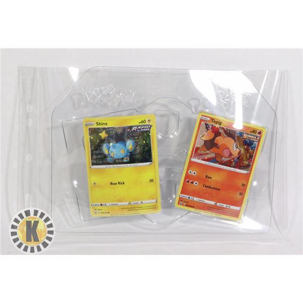 x2 POKEMON PROMO HOLO CARDS BATTLE STYLES