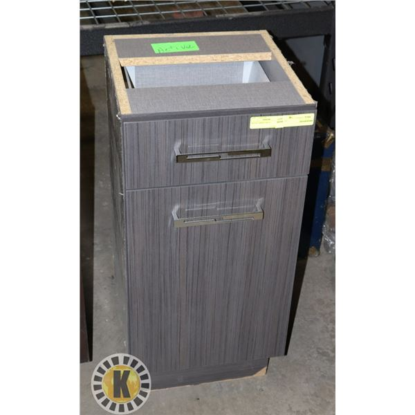 """WOOD CABINET GRAY LXWXH 15""""X16""""X31"""" INCHES"""