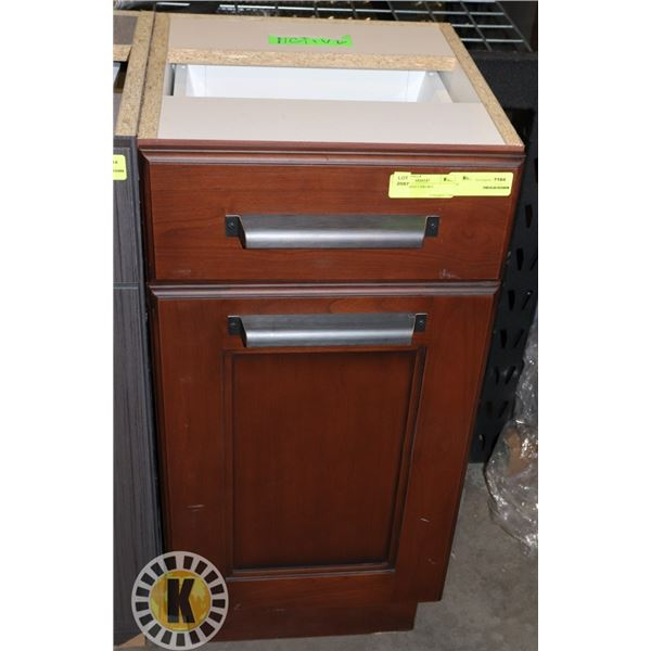 """WOOD CABINET  BROWN LXWXH 15""""X16""""X31"""" INCHES"""