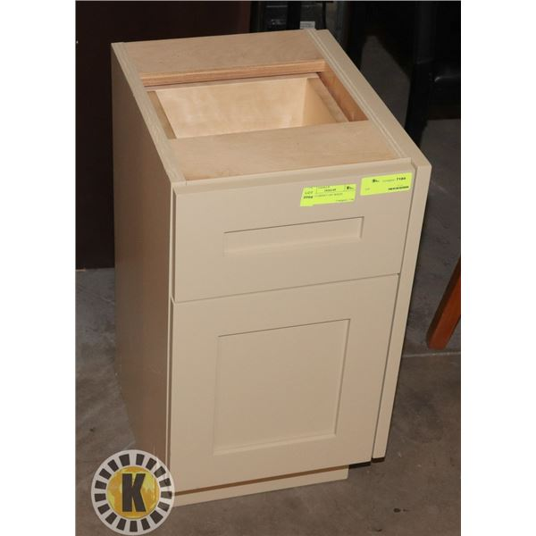 """WOOD CABINET OFF WHITE LXWXH 13""""X16""""x24"""""""