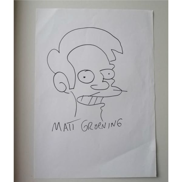Matt Groening drawing of Apu nahasapn