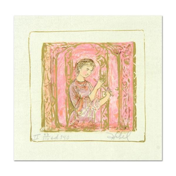 """Edna Hibel (1917-2014), """"Solo"""" Limited Edition Lithograph with Remarque, Numbere"""