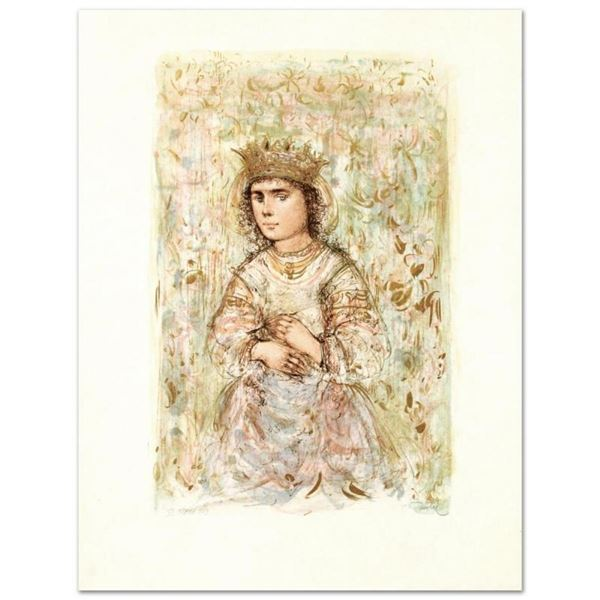 """""""Zorina"""" Limited Edition Lithograph by Edna Hibel (1917-2014), Numbered and Hand"""
