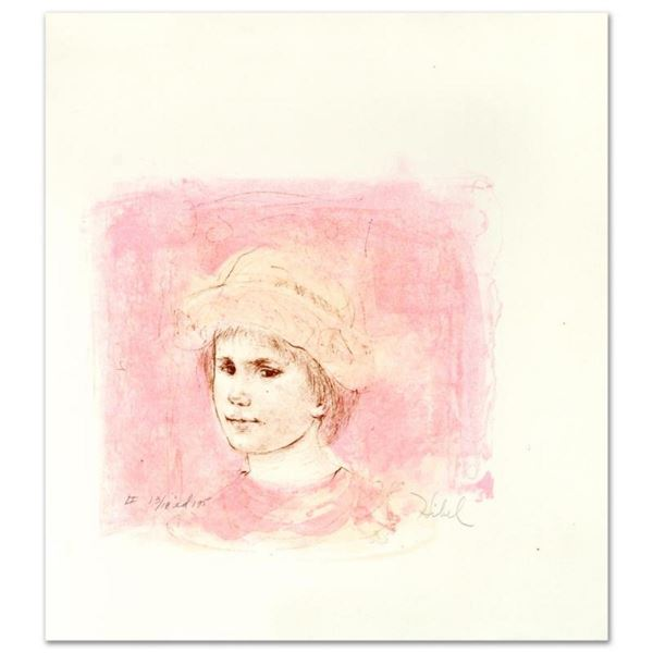 """""""Alberto"""" Limited Edition Lithograph by Edna Hibel (1917-2014), Numbered and Han"""