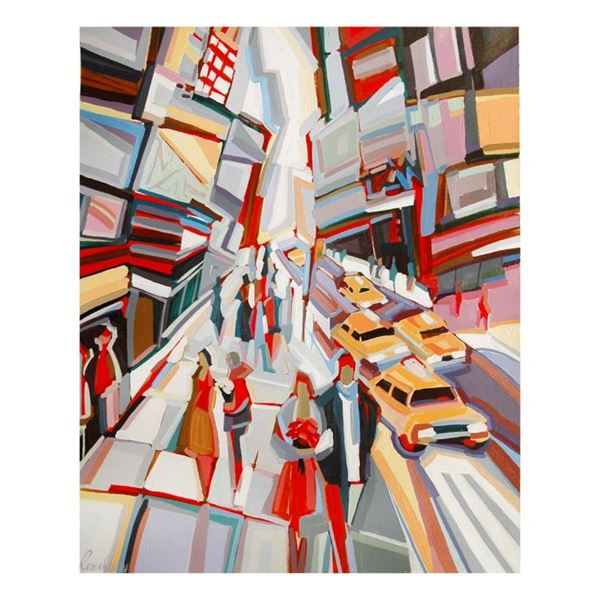 """Natalie Rozenbaum, """"Broadway Scene"""" Limited Edition on Canvas, Numbered and Hand"""