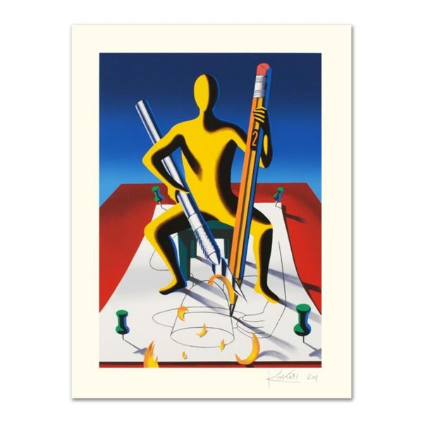 """Mark Kostabi, """"Careful With That Ax, Eugene"""" Limited Edition Serigraph, Numbered"""
