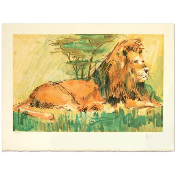 "Wayland Moore, ""Lion"" Limited Edition Lithograph, Numbered and Hand Signed."