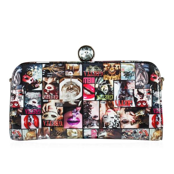 Multi Colored Greta Fashionista Patent Small Clutch