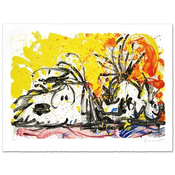 """""""Blow Dry"""" Limited Edition Hand Pulled Original Lithograph (37"""" x 25.5"""") by Reno"""