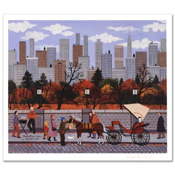 """Jane Wooster Scott, """"Manhattan Colors"""" Hand Signed Limited Edition Lithograph wi"""