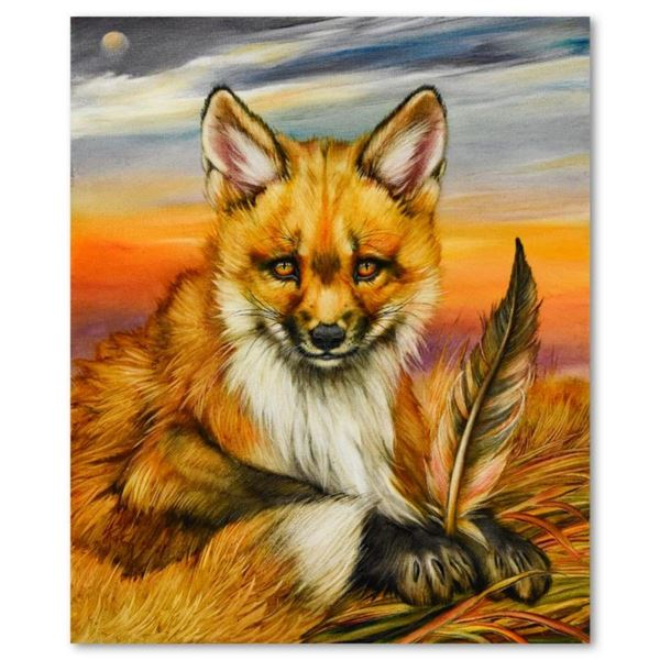 Red Fox Pup and Feather by Katon Original