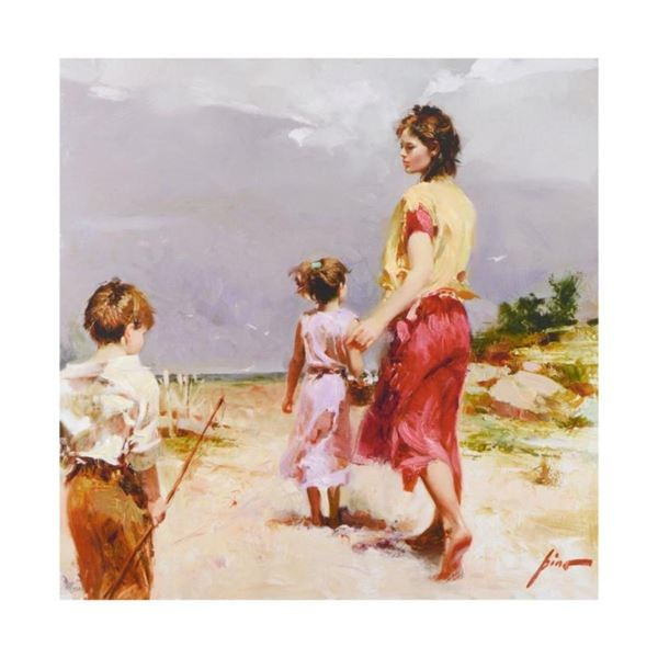 """Pino (1939-2010), """"Going Fishing"""" Limited Edition Artist-Embellished Giclee on C"""