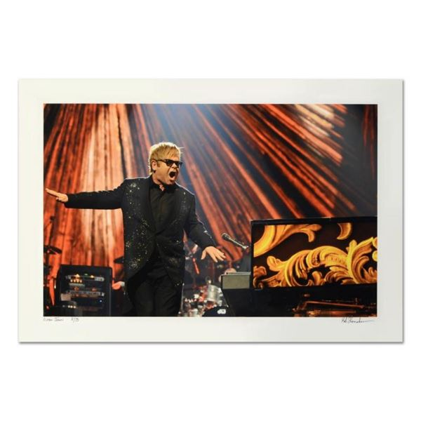 """Rob Shanahan, """"Elton John"""" Hand Signed Limited Edition Giclee with Certificate o"""