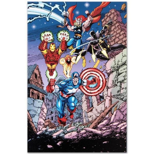 "Marvel Comics ""Avengers #21"" Numbered Limited Edition Giclee on Canvas by George"