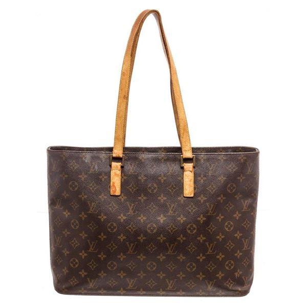 Louis Vuitton Brown Epi leather Monogram Luco Tote Bag