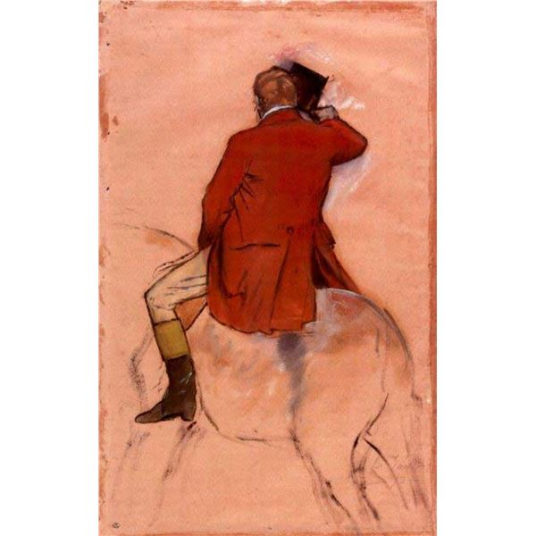 Edgar Degas - Rider With Red Jacket