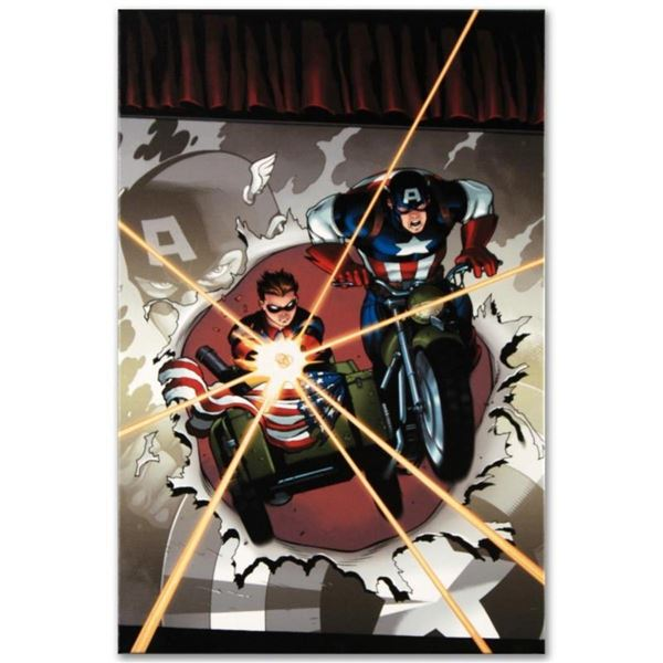 """Marvel Comics """"Captain America and Bucky #621"""" Numbered Limited Edition Giclee o"""