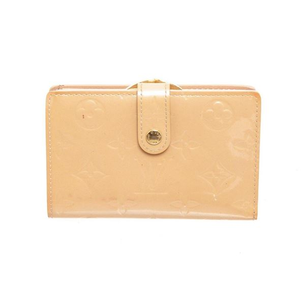 Louis Vuitton Beige Vernis Leather French Wallet