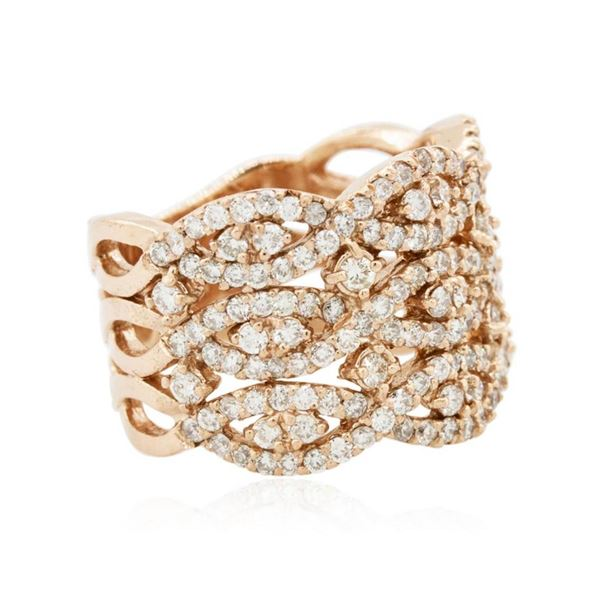 14KT Rose Gold 1.40 ctw Diamond Ring