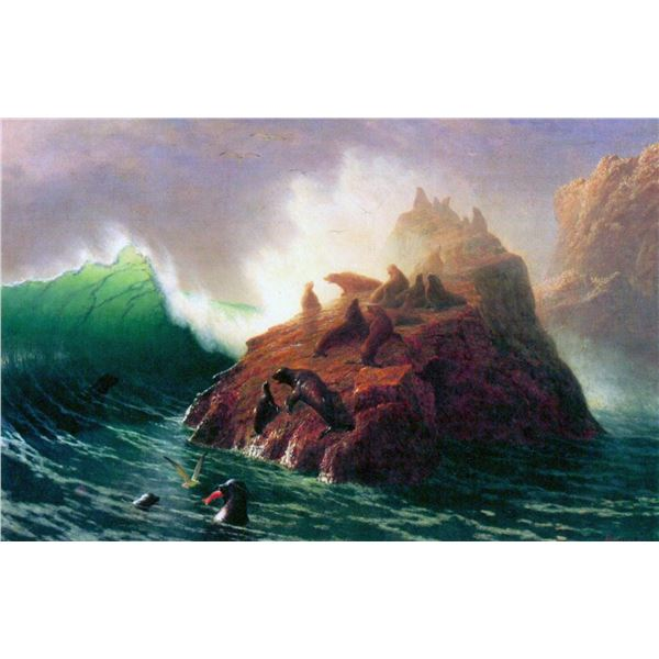 Seal Rock, California by Albert Bierstadt