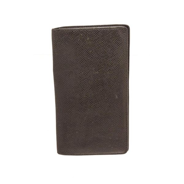 Louis Vuitton Black Taiga Leather Long Card Wallet