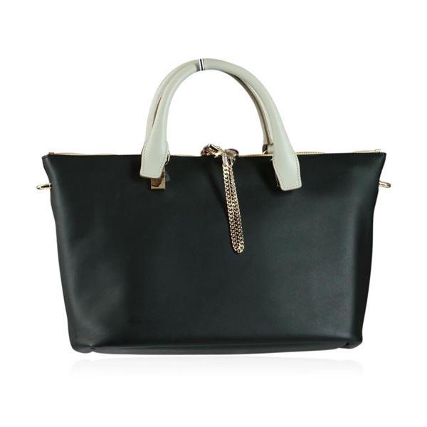 Chloe Baylee Black and Gray Shoulder/Tote Bag