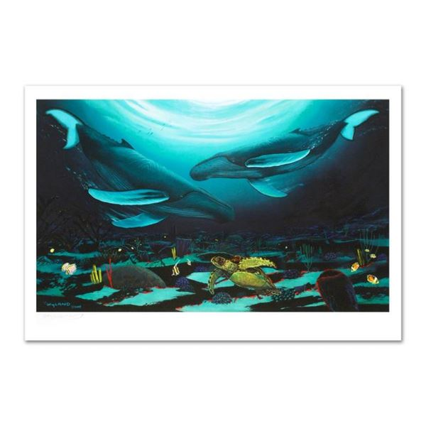 """Wyland -""""Humpback Dance"""" Limited Edition Giclee on Canvas (35"""" x 24""""), Numbered"""