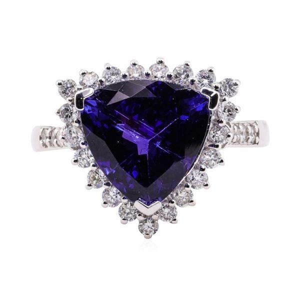 5.16 ctw Tanzanite and Diamond Ring - Platinum